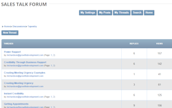 content management system built in threaded forums