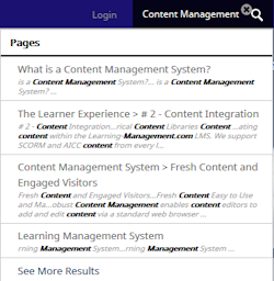 fast and accurate content management search ability