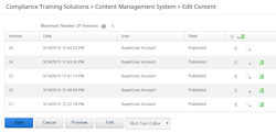 content management system workflow controls