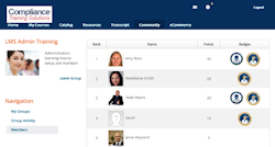 learning management system leader boards