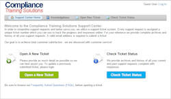 responsive help desk ticketing system included with our learning management system